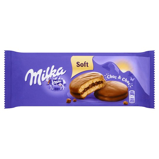 Milka Choc&Choc Sponge Cakes with Chocolate Filling and with Pieces of Chocolate 150 g