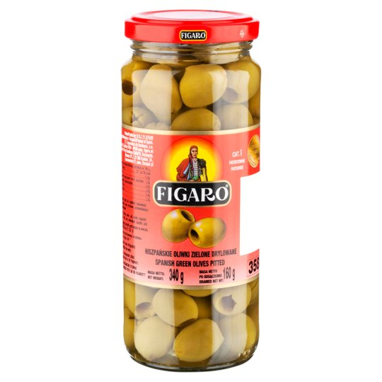 Figaro Pitted Spanish Green Olives 340 g
