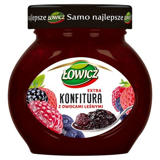 Łowicz Konfitura extra z owocami leśnymi niskosłodzona 240 g