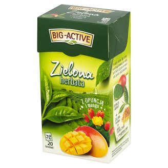 Big-Active Green Tea with Prickly Pear and Mango 34 g (20 Tea Bags)