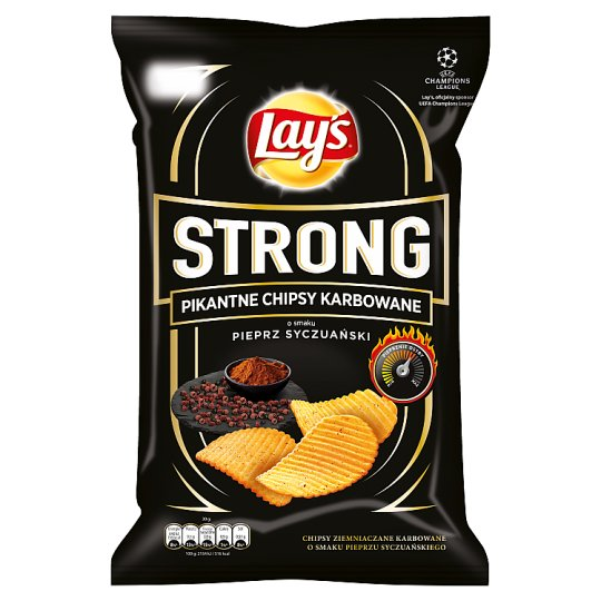 Lay's Strong Sichuan Pepper Flavoured Spicy Corrugated Crisps 150 g