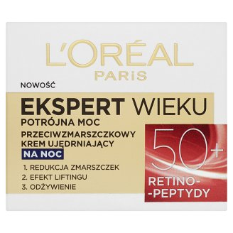 image 1 of L'Oréal Paris Age 50+ Triple Power Specialist Anti-Wrinkle Firming Night Cream 50 ml