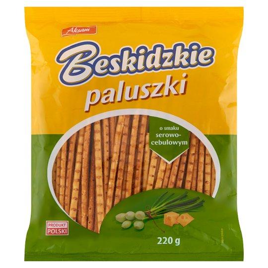 Aksam Beskidzkie Cheese and Onion Flavour Sticks 220 g