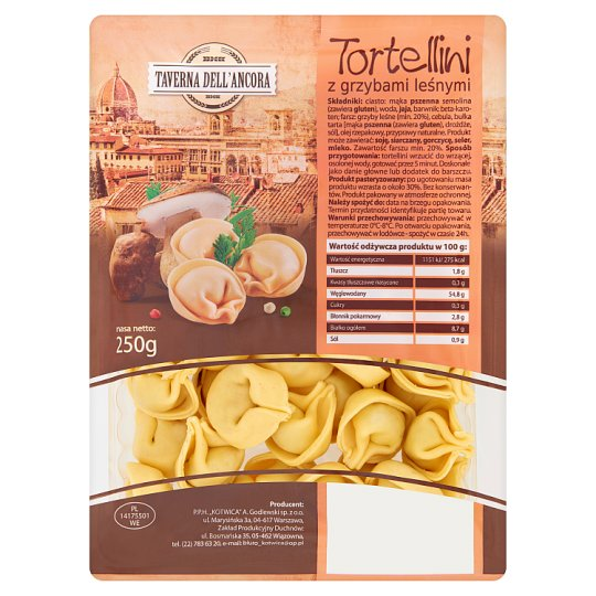Taverna Dell'Ancora Tortellini with Mushrooms 250 g