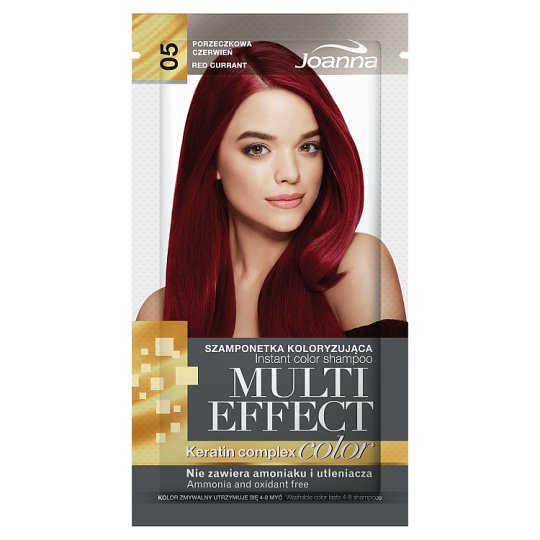 Joanna Multi Effect color Instant Color Shampoo Red Currant 05 35 g