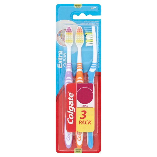 Colgate Extra Clean Medium Toothbrush 3 Pieces