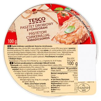 Tesco Poultry Paté with Tomatoes 100 g
