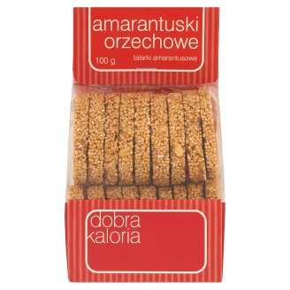 Dobra Kaloria Amarantuski Hazelnut Amaranth Slices 100 g