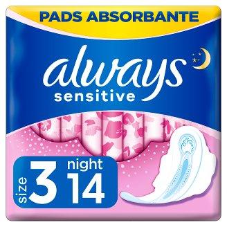 Always Ultra Sensitive Night (rozmiar 3) Podpaski ze skrzydełkami, 14