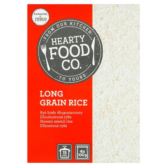 Hearty Food Co. Long Grain Rice 400 g (4 x 100 g)