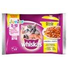 Whiskas Junior Karma 2-12 miesięcy potrawka w galaretce smaki drobiowe 340 g (4 x 85 g)