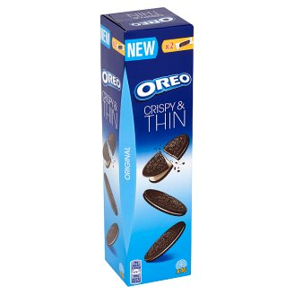 Oreo Original Crispy & Thin Cocoa Flavoured Sandwich Biscuits 96 g (16 Pieces)