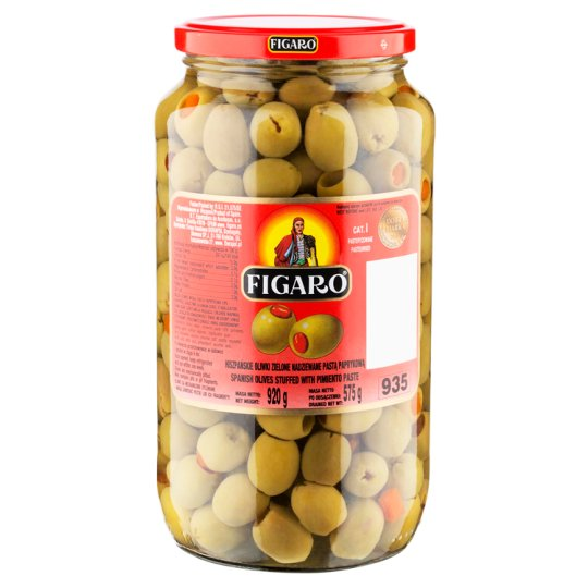 Figaro Spanish Green Olives Stuffed with Pimiento Paste 920 g