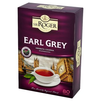 Sir Roger Earl Grey Herbata czarna ekspresowa 120 g (80 torebek)