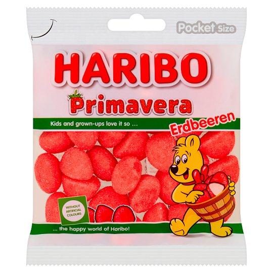 Haribo Primavera Pianko-żelki o smaku truskawkowym 100 g