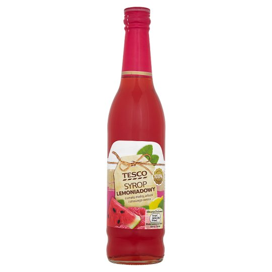 Tesco Raspberry Watermelon and Dragon Fruit Flavoured Lemonade Syrup 430 ml