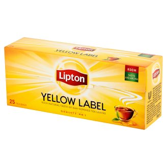 Lipton Yellow Label Black Tea 50 g (25 Tea Bags)