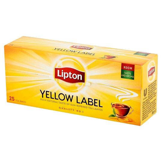 Lipton Yellow Label Black Tea 50 g (25 Tea Bags)