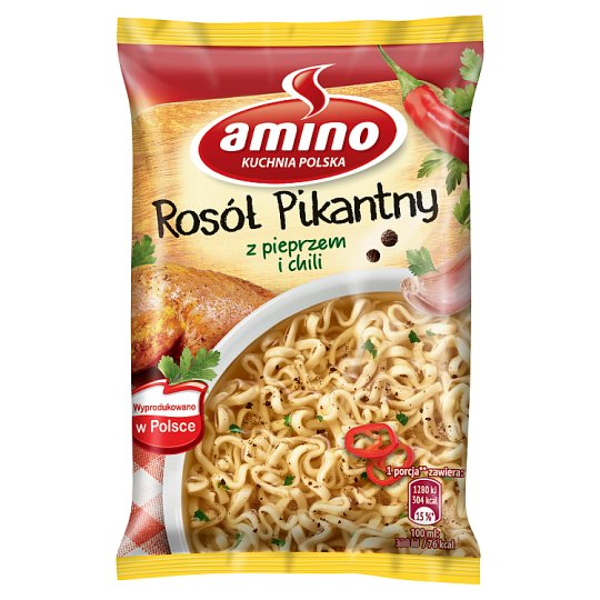 Amino Spicy Broth with Pepper and Chilli Instant Soup 58 g