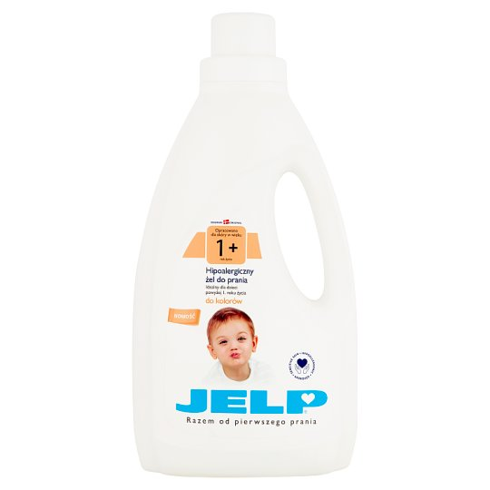 JELP 1+ Hypoallergenic Washing Gel to Colors 1.5 L (18 Washes)