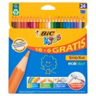 Bic Kids Evolution Wood Free Resin Pencils 24 Colours