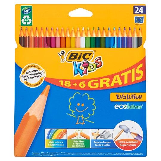 Bic Kids Evolution Kredki bezdrzewne z żywicy syntetycznej 24 kolory