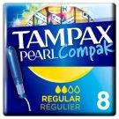 Tampax Compak Pearl Regular Tampons Applicator 8X
