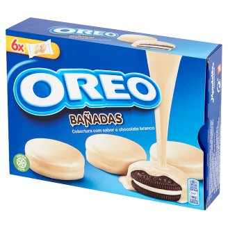 Oreo Cocoa Sandwich Biscuits with Vanilla Flavoured Filling in White Chocolate 246 g (12 Pieces)