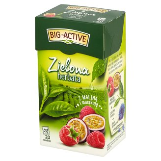 Big-Active Green Tea with Raspberry and Passionfruit 34 g (20 Tea Bags)
