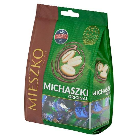 Mieszko Michaszki Original Cukierki z orzeszkami arachidowymi w czekoladzie 260 g