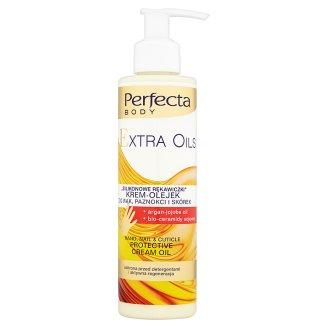 """Perfecta Body Extra Oils """"Silikonowe rękawiczki"""" Krem-olejek do rąk paznokci i skórek 195 ml"""