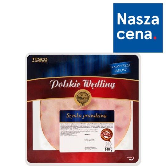 Tesco Polskie Wędliny Szynka prawdziwa 140 g