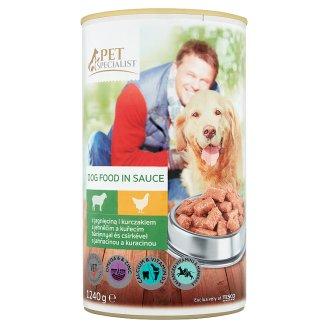 Tesco Pet Specialist Karma dla dorosłych psów z jagnięciną i kurczakiem w sosie 1240 g