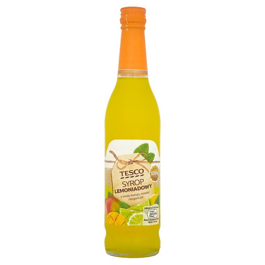 Tesco Mango Passion Fruit and Bergamot Flavoured Lemonade Syrup 430 ml