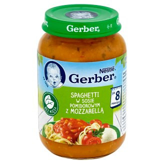 Gerber Spaghetti in Tomato Sauce with Mozzarella after 8 Months Onwards 190 g