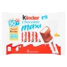 Kinder Chocolate Maxi Batoniki z mlecznej czekolady z nadzieniem mlecznym 6 x 21 g