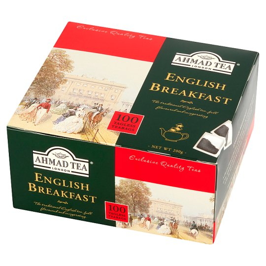 Ahmad Tea English Breakfast Black Tea 200 g (100 Tea Bags)