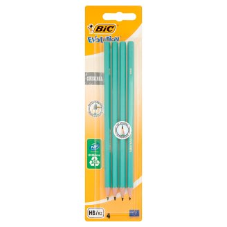 BiC Evolution Original HB Wood Free Graphite Pencil 4 Pieces
