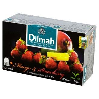 Dilmah Ceylon Black Tea Flavoured with Mango and Strawberry 30 g (20 torebek)