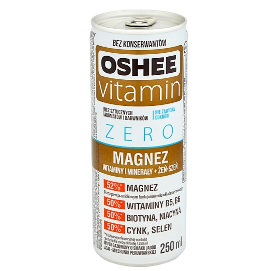 Oshee Vitamin Zero Magnesium Acai Golden Berries Flavour Sparkling Drink 250 ml