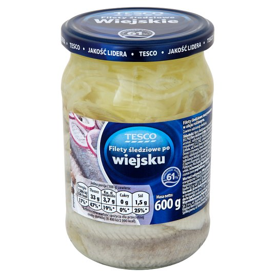 Tesco Country Style Herring Fillets 600 g