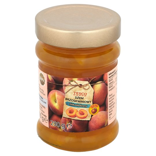 Tesco Low Sugar Peach Jam 290 g