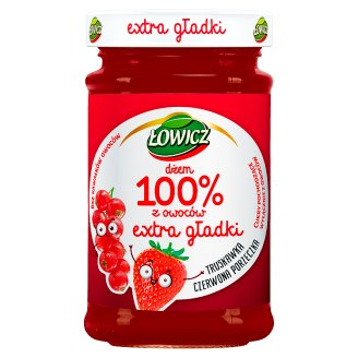 Łowicz Strawberry and Redcurrant 100% Fruit Jam 235 g