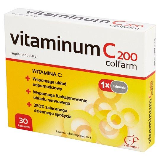 Colfarm Vitaminum C 200 Suplement diety 30 tabletek
