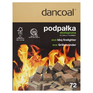Dancoal Podpałka ekologiczna do grilla i kominka 72 kostki