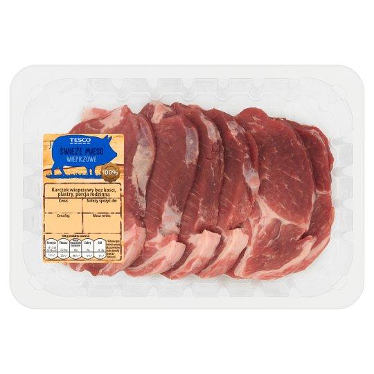 Tesco Karczek wieprzowy bez kości plastry porcja rodzinna 800 g