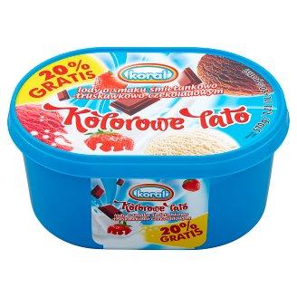 Koral Kolorowe Lato Cream-Strawberry-Chocolate Ice Cream 1.2 L