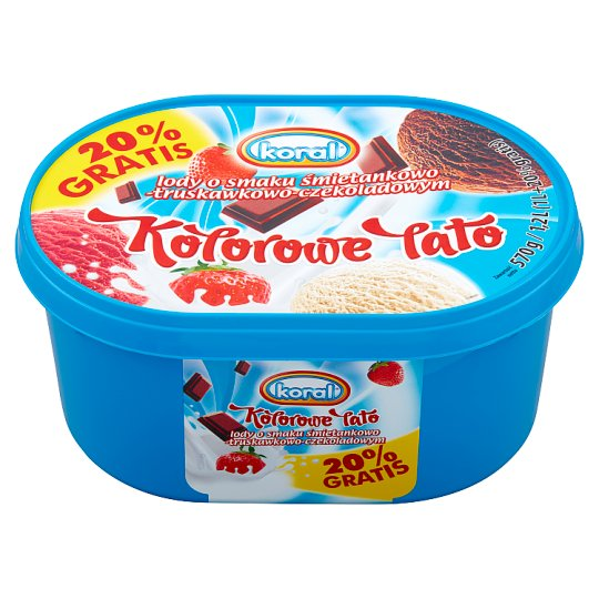 Koral Kolorowe Lato Cream-Strawberry-Chocolate Ice Cream 1.2 L