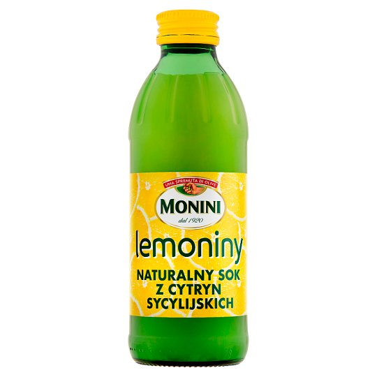 Monini Lemoniny Natural Juice from Sicilian Lemons 240 ml