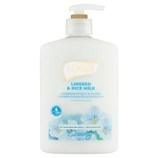 Luksja Creamy Linseed & Rice Milk Liquid Soap 500 ml